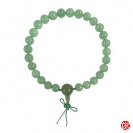 Bracelet mālā en jade aventurine 27 perles de 10mm