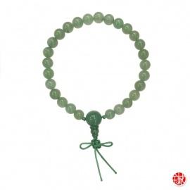 Bracelet mālā en jade aventurine 27 perles de 8mm