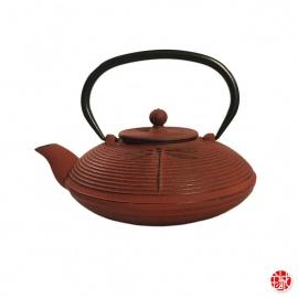 Théière en fonte chinoise LibELLULES 0.80L rouge