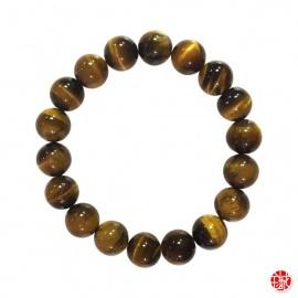 Bracelet perles en OEiL de TiGRE 10mm