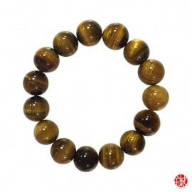 Bracelet perles en OEiL de TiGRE 14mm
