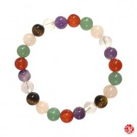 Bracelet perles en PiERRES MéLANGéES 8mm