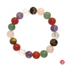 Bracelet perles en PiERRES MéLANGéES 10mm