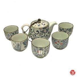 Service à thé 6 pièces NAGOYA en porcelaine
