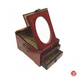 Boîte à bijoux avec miroir et 2 tiroirs PERSONNAGES (L17xP21xh12cm)