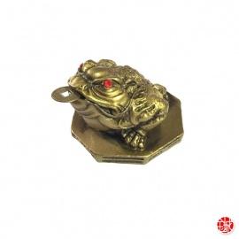 Chan'chu sur octogramme en résine doré (h5.5cm)