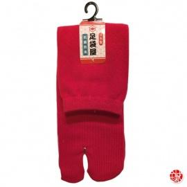 Chaussettes à orteil japonaises UNiES rouges (extensible t34 à t39)