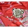 Kimono imprimé FLEURS avec noeud rouge