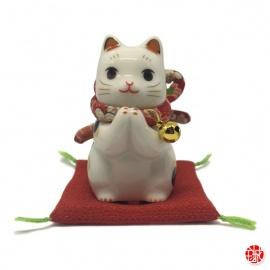 Maneki Neko PRièRE en porcelaine japonaise h6.5cm