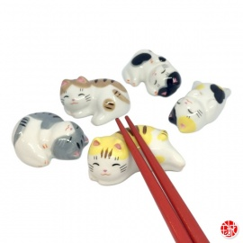 Porte-baguette MANEKi NEKO DéTENTE en porcelaine (L4 à 6cm)