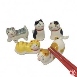 Porte-baguette MANEKi NEKO MiMi en porcelaine (L4 à 5cm)