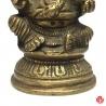 Ganesh assis sur lotus en laiton (h13cm)