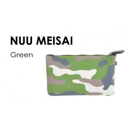Trousse en silicone NUU MEISA camouflage vert/noir 17.5*11cm