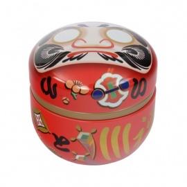 Boîte à thé japonaise (茶筒 chazutsu) DARUMA rouge (100g)