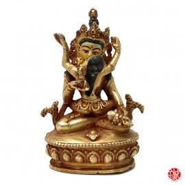 Shiva et Shakti en Yab-yum en laiton (h10.4cm)