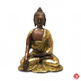 Bouddha ShAKYAMUNi en laiton doré (h15cm)