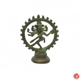 Shiva Nataradja en laiton vert-de-gris (h10cm)