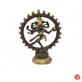 Shiva Nataradja en laiton bronze et or (h10cm)