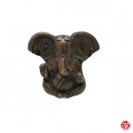 Ganesh assis en laiton bronze (h4.5cm)