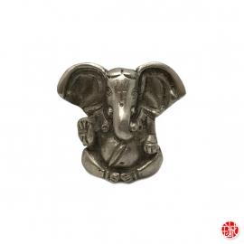 Ganesh assis en laiton argenté (h4.5cm)