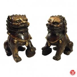 Chiens de Foo en bronze (h11cm)