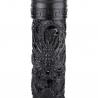 Brûleur d'encens en bois sculpté main ajouré DRAGON iMPéRiAL (h28cm)