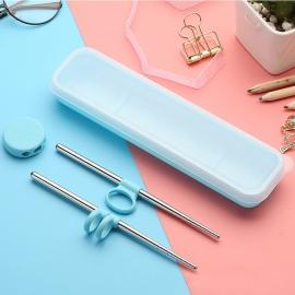 Baguettes d'apprentissage enfant avec boîte de transport ROSE (h16.5cm)