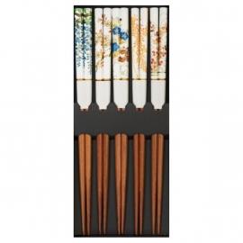 Set de 5 baguettes japonaises assorties HANA