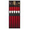 Set de 5 baguettes japonaises assorties RED