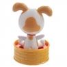 Flip-flap figurine solaire ChiEN dans un PANiER (h11cm)