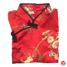 Tunique imprimé GRANdES FLEURS rouge