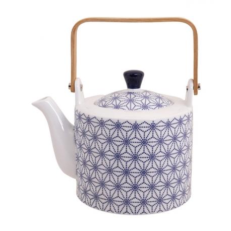 Théière en porcelaine japonaise NiPPON BLUE star 1L30