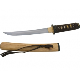 Tanto forgé main MOKUZAi fourreau bois (lame MARU)