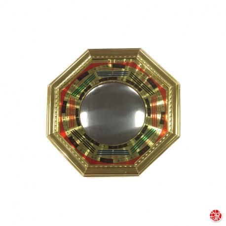 Pakwa en bois contour doré convexe (15cm)