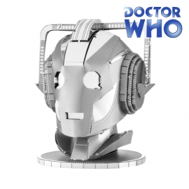 Miniature à monter en métal Dr. Who TêTE de CYbERMAN (h7.1cm)