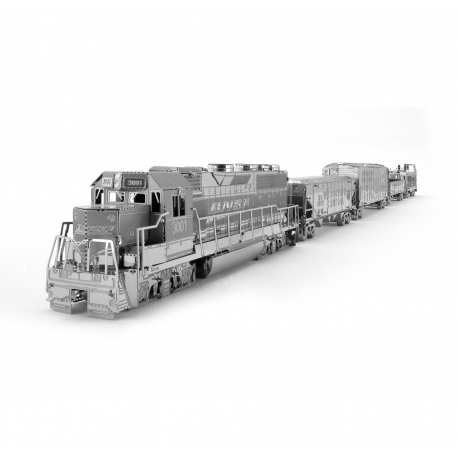 Miniature à monter en métal TRAiN de FRET avec 4 WAGONS