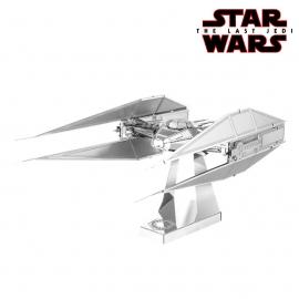 Miniature à monter en métal Star Wars TiE SiLENCER de KYLO REN (L11.2cm)