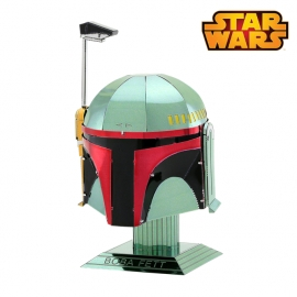 Miniature à monter en métal Star Wars Casque de BOBA FETT (h8.8cm)