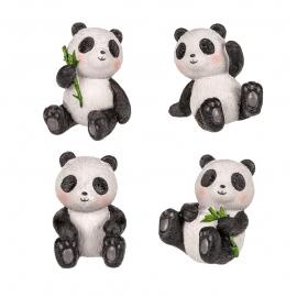 Panda assis en polyrésine (h6cm)