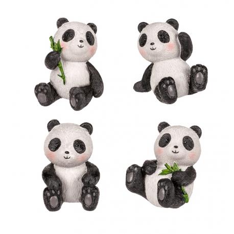 Panda assis en polyrésine (h3.5cm)