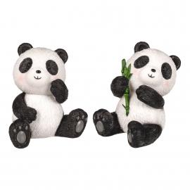 Panda assis en polyrésine (h10cm)