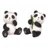 Panda assis en polyrésine (h6.5cm)