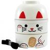 Bento KOKESHI (招き猫 Maneki Neko) blanc 1200ml