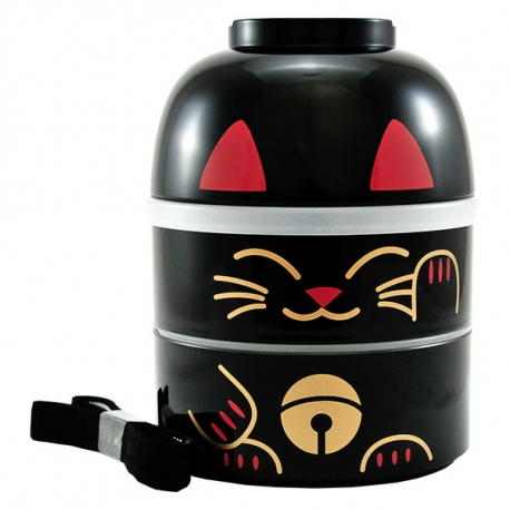 Bento KOKESHI (招き猫 Maneki Neko) noir 1200ml