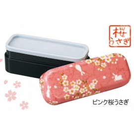 Bento KiMONO lapin sakura long rose 510ml