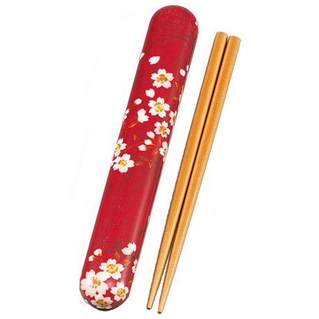 Etui et baguettes KiMONO lapin sakura