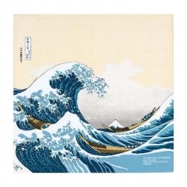 Furoshiki la Grande Vague de Kanagawa par Katsushika Hokusai (48x48cm)