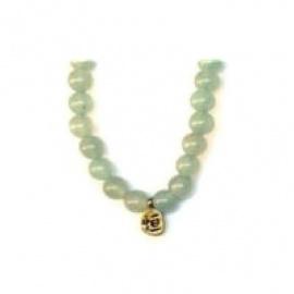 Bracelet perles ETERNiTE (恒) en JAdE SERPENTiNE 6mm