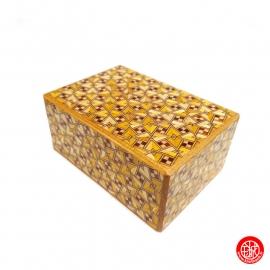Boîte à secret (Himitsu-bako ~ ひみつ箱) 5 sun (15.2cm) ouverture en 21+1 étapes, motif KiRiChiGAE
