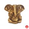 Ganesh assis en laiton doré (h6cm)